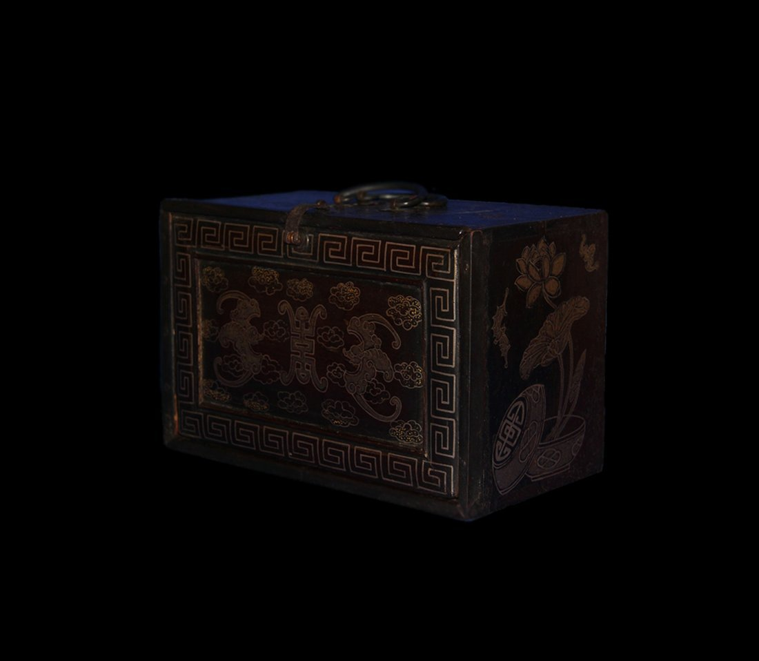An Important Qing Rose Wood Lacquer Box - 3