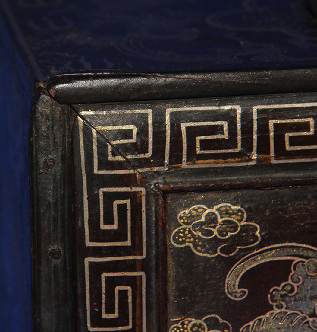 An Important Qing Rose Wood Lacquer Box - 4