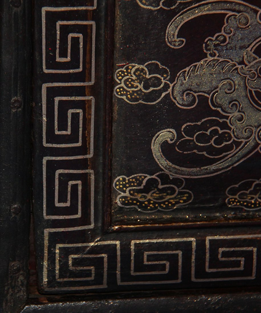 An Important Qing Rose Wood Lacquer Box - 5