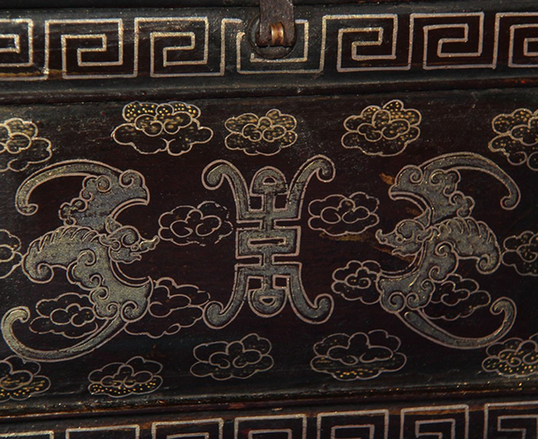 An Important Qing Rose Wood Lacquer Box - 6
