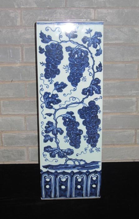 Fine Ming Chinese Blue and White Square Porcelain Vase
