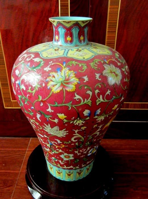 Antique Qing Chinese Famille Rose and Gilted Porcelain