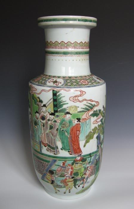 Fine Antique Qing Famille Rose Porcelain Vase