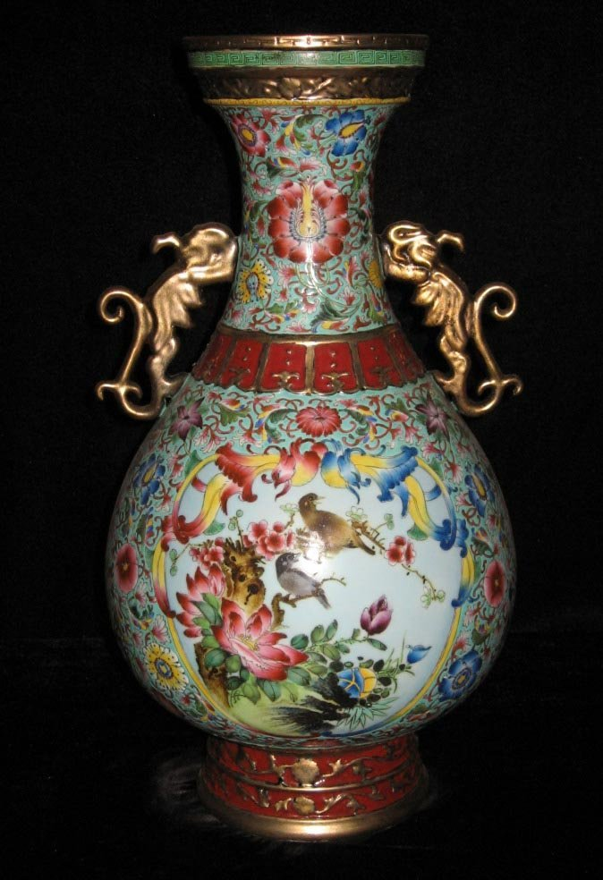 Fine Antique Qing Famille Rose and Gilted Porcelain