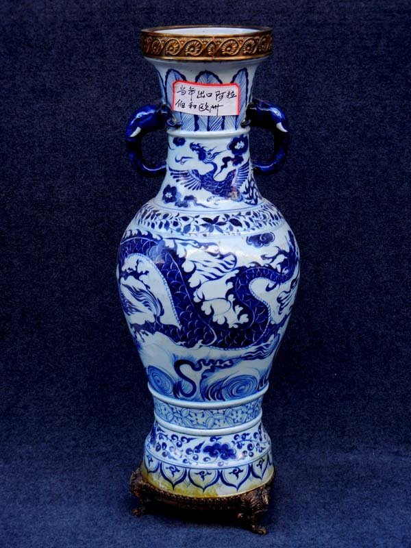 Large Antique Chinese Ming Export Blue and White