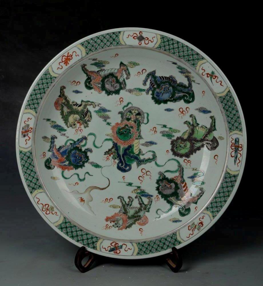 50cm Fine Antique Qing Famille Rose Large Porcelain
