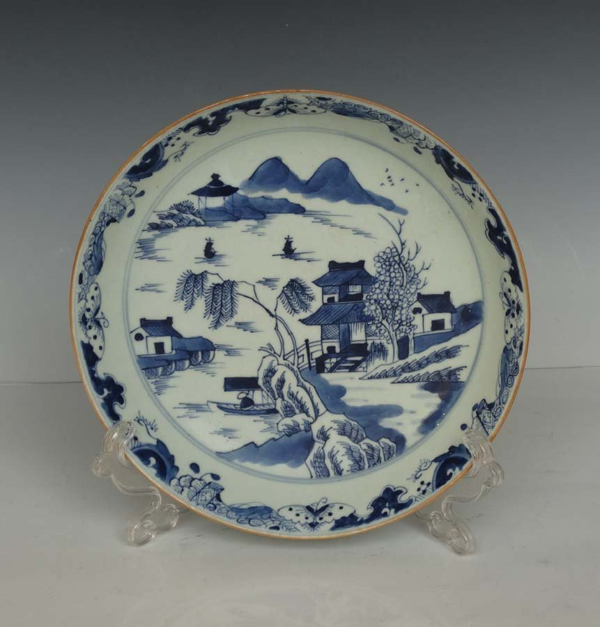 A Chinese Blue and White Export Porcelain Plate