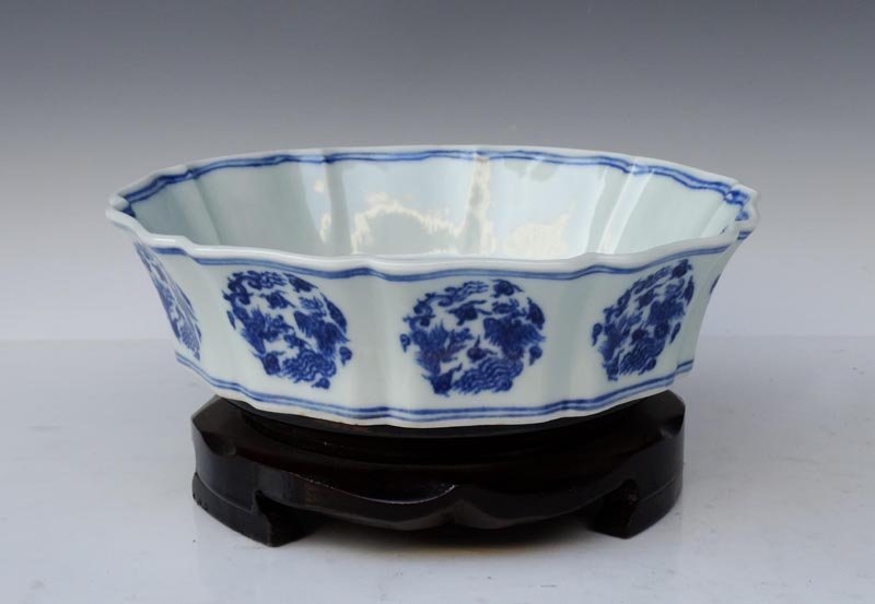A Fine Chinese Ming Blue and White Porcelain Washer