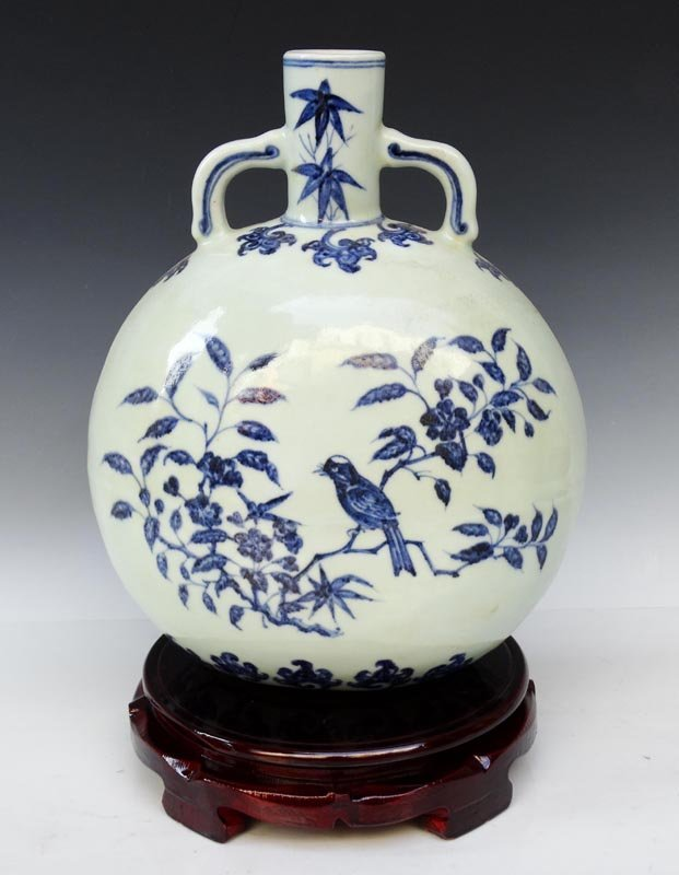 A Fine Chinese Ming Blue and White Porcelain Vase