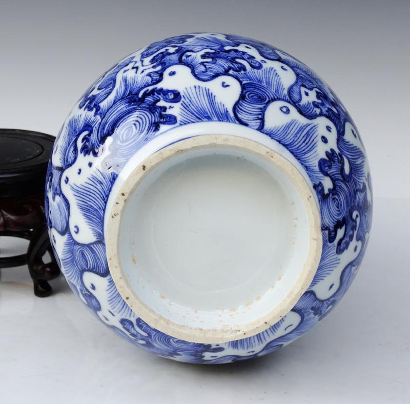 A Unique Chinese Yuan Blue and White Porcelain Vase - 3