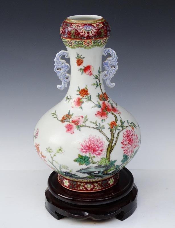 A Fine Chinese Qing Enamel Porcelain Vase