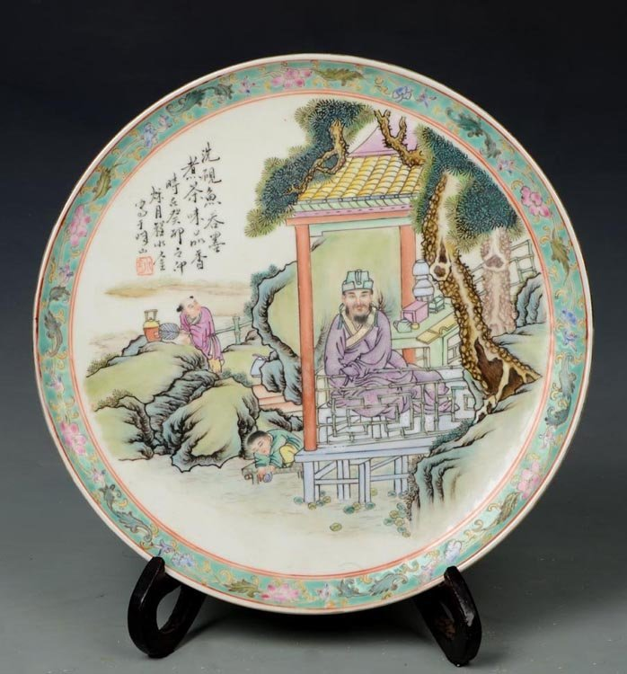 Republican Period Chinese Famille Rose Porcelain Plate