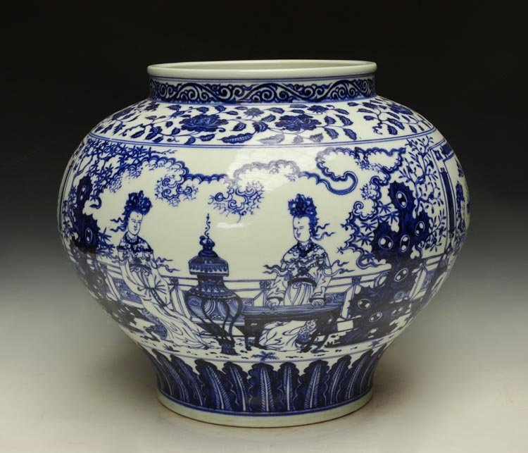 A Top Grade Chinese Ming Blue and White Porcelain Jar