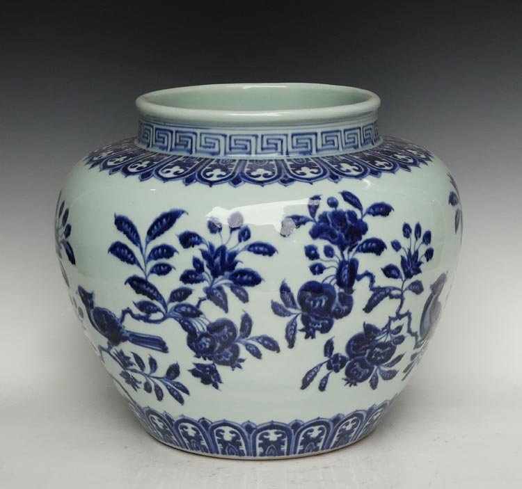 A Large Fine Chinese Ming Blue and White Porcelain Jar