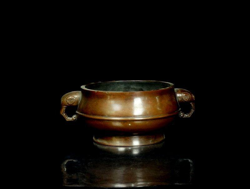 A Large Chinese Ming Bronze Censer