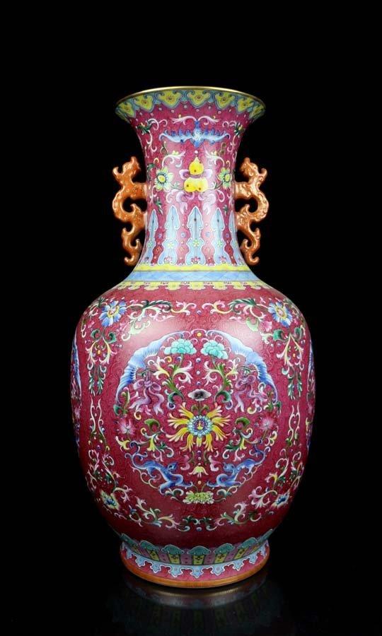 Toppest Large Chinese Qing Famille Rose Porcelain Vase