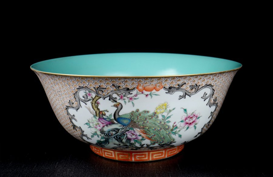 Very Large Chinese Qing Famille Rose Porcelain Bowl