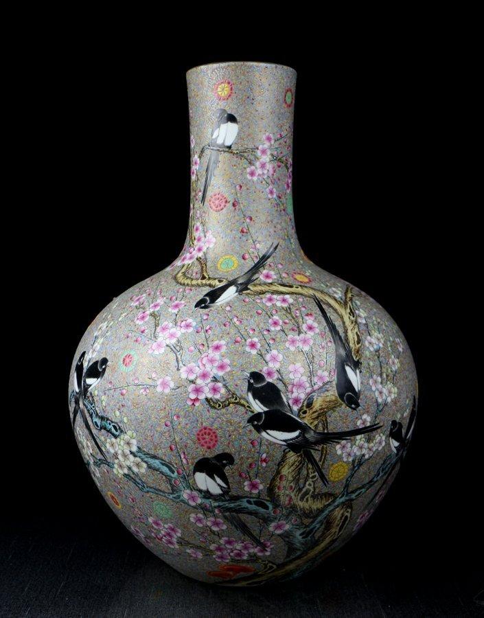 A Large Chinese Qing Famille Rose Porcelain Vase