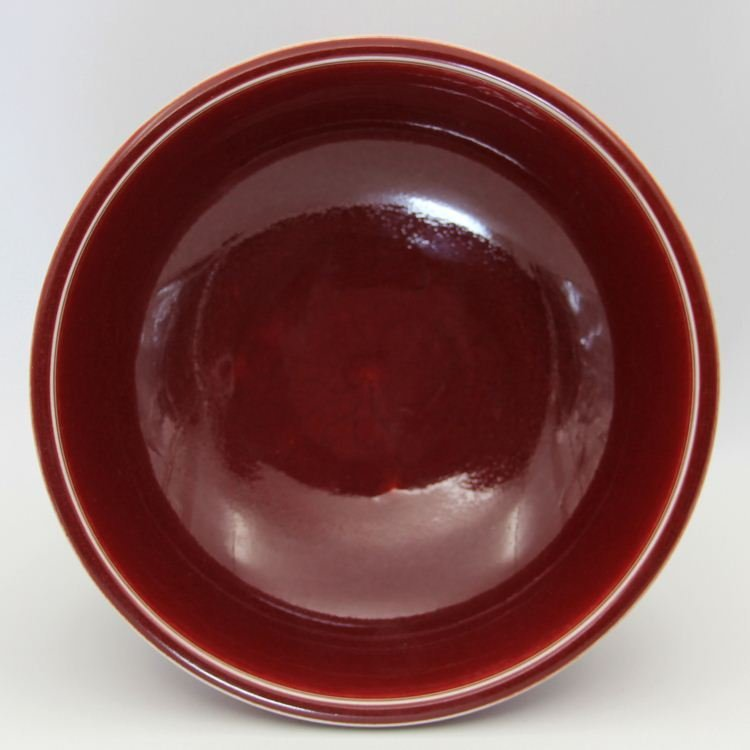 A Large Chinese Ming Copper Red Carved Flower Porcelain