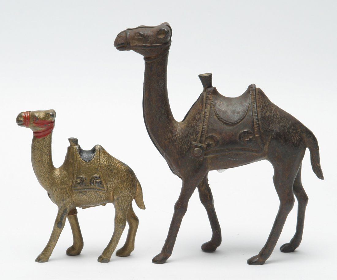 Camel Penny Banks, Lot of Two.