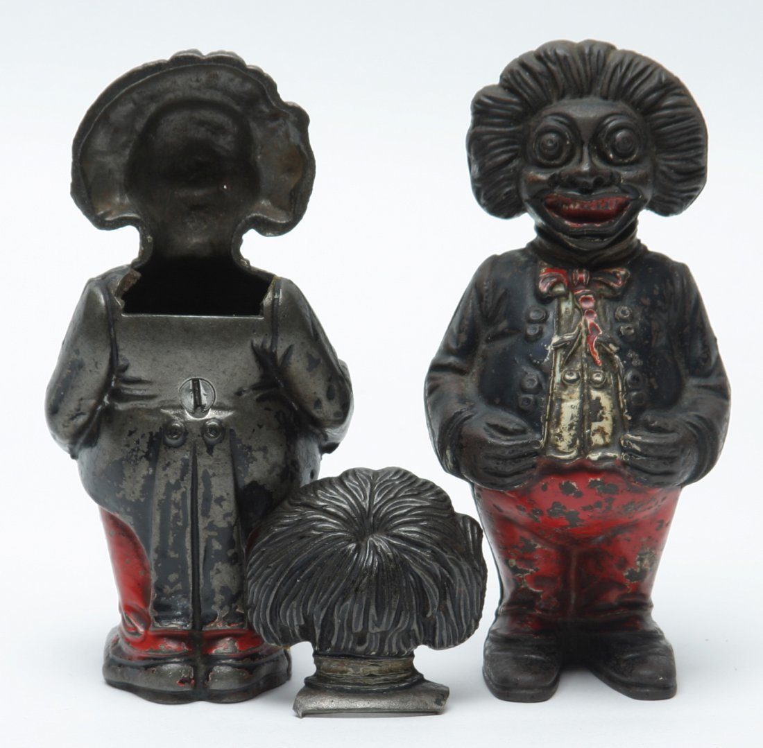 Golliwog Penny Banks, Lot of Two.