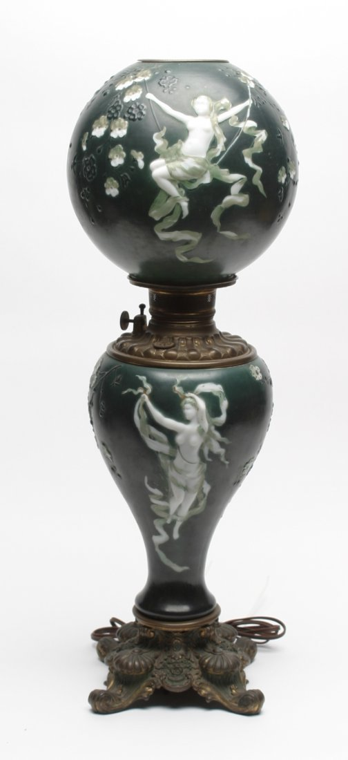 Art Nouveau Dancing Nymph Victorian Glass.