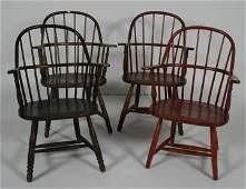 Assembled Set of 4 Windsor SackBack Arm Chairs