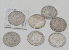 Silver Carson City Morgan Dollars, Lot of Seven.