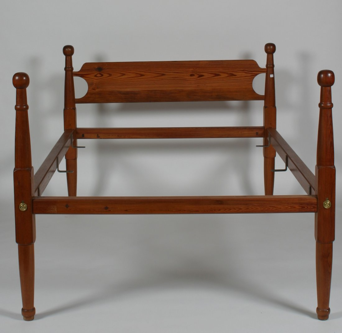 20th C. Pine Rope-Style Bed.