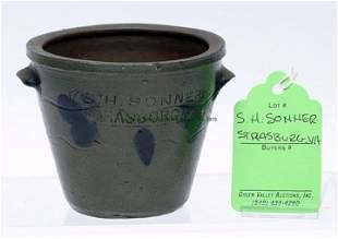 Rare S. H. Sonner, Strasburg Miniature Jar