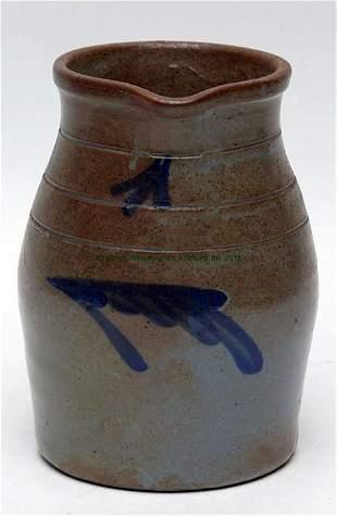 Mid-Atlantic Cobalt Decorated Stoneware Cream Jug