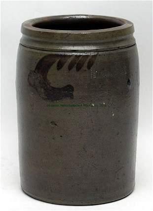 S. Bell & Son, Strasburg 1 gallon Stoneware Jar