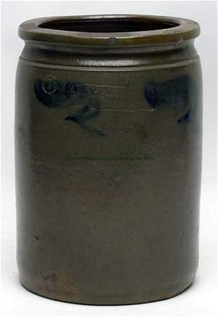 W. H. Crisman, Strasburg Cobalt Decorated Jar