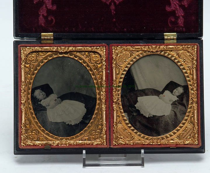 Postmortem Ambrotype in Thermoplastic Case