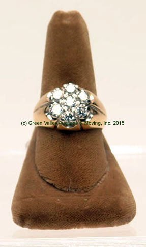 14k Yellow Gold & Diamond Men's Ring