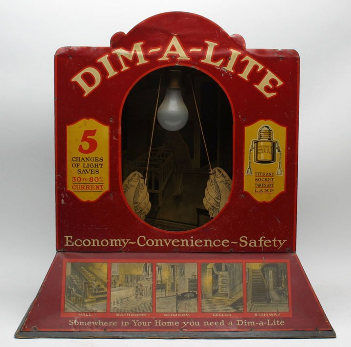 Rare Dim-A-Lite Mechanical Display