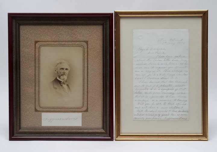 Confederate President Jefferson Davis Items