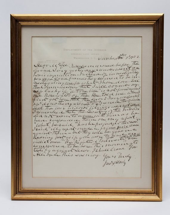 1902 John S. Mosby Signed Document