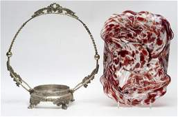 Victorian Spatter Brides Bowl  Frame