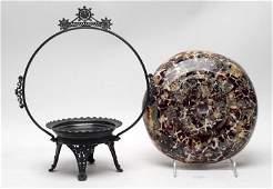 Victorian Cased Spatter Bride's Basket