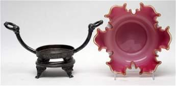 Victorian Cased Bride's Bowl & Frame