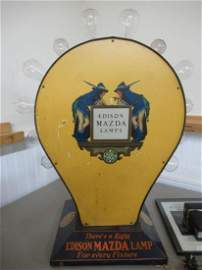 GE Edison Mazda Lamp Store Display Parrish Art