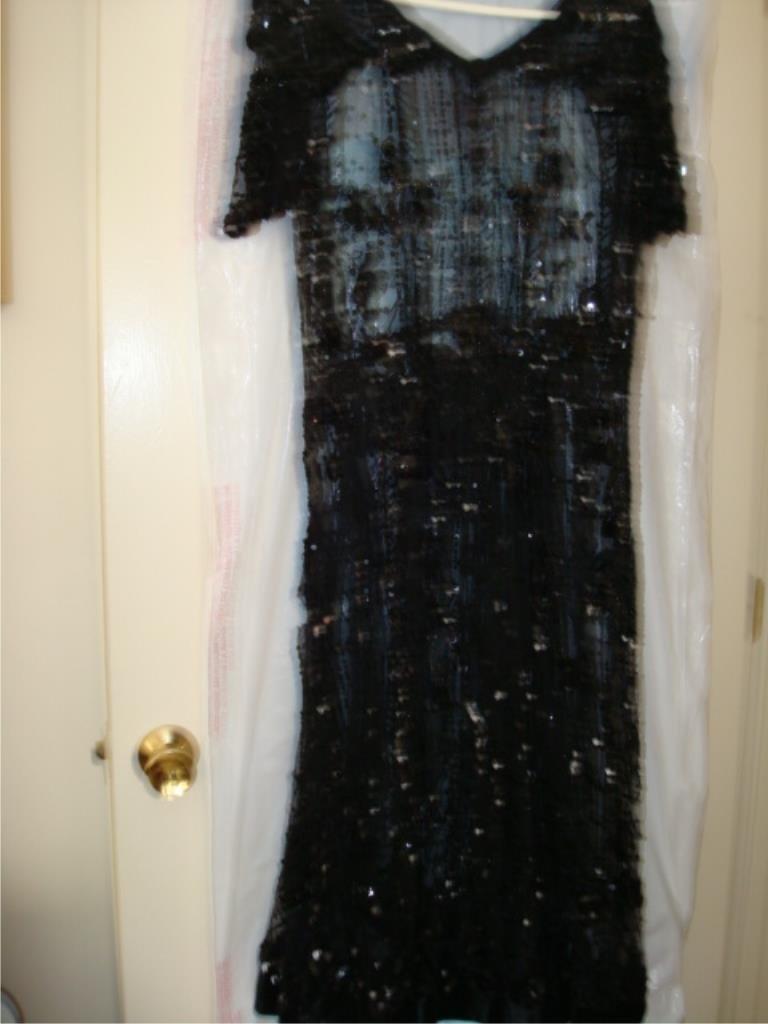 Black Beaded 'Flapper' Dress