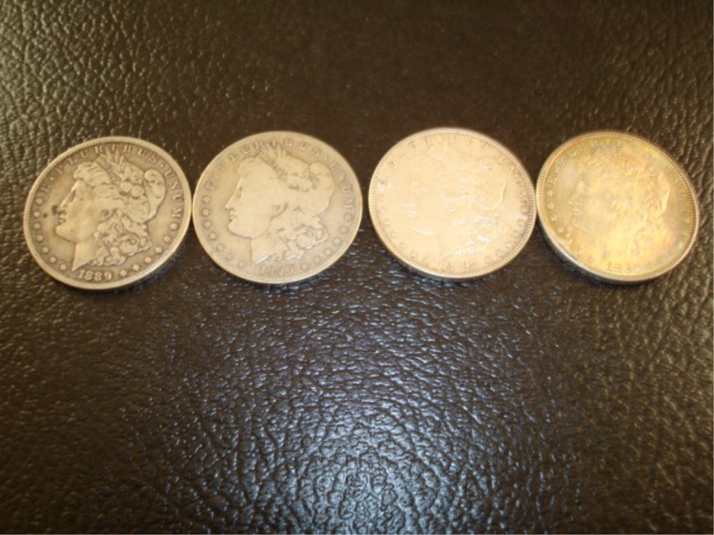 4 Silver One Dollar Coins 1880-1897 (89)