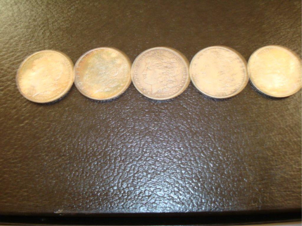 5 Silver Dollars 1880 - 1890 (90)