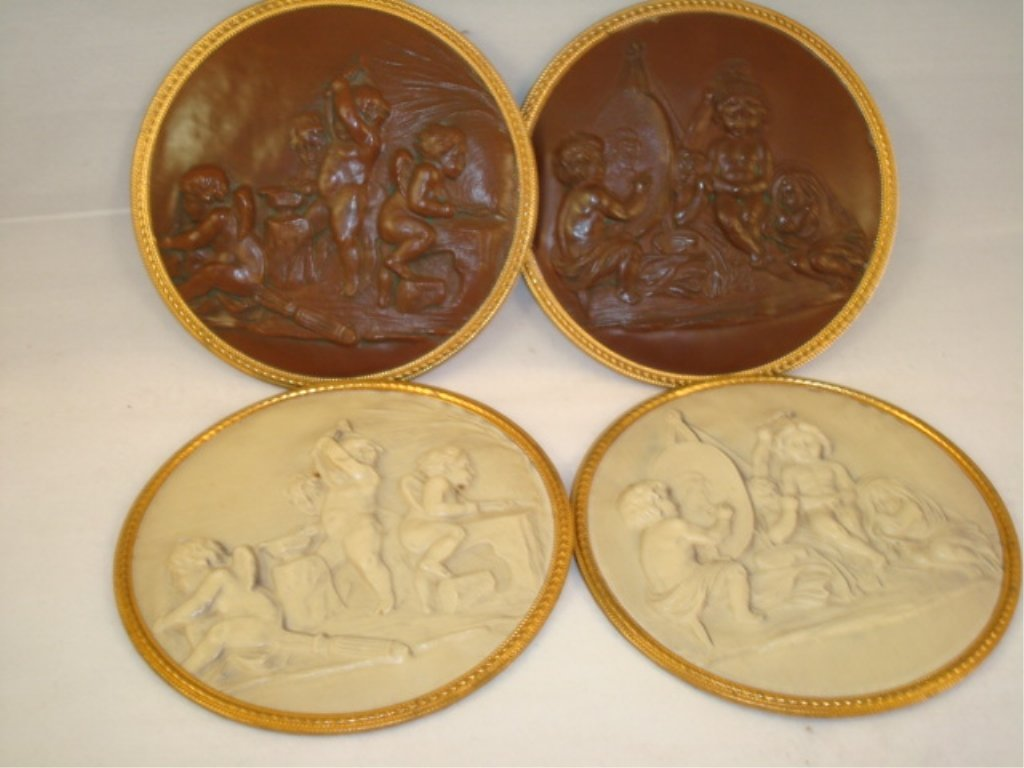 4 celluloid Cameo Wall Hangers