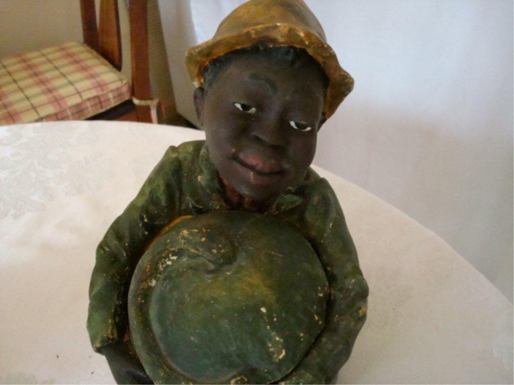Black Memorabila Humidor Chalkware Boy w Melon - 3