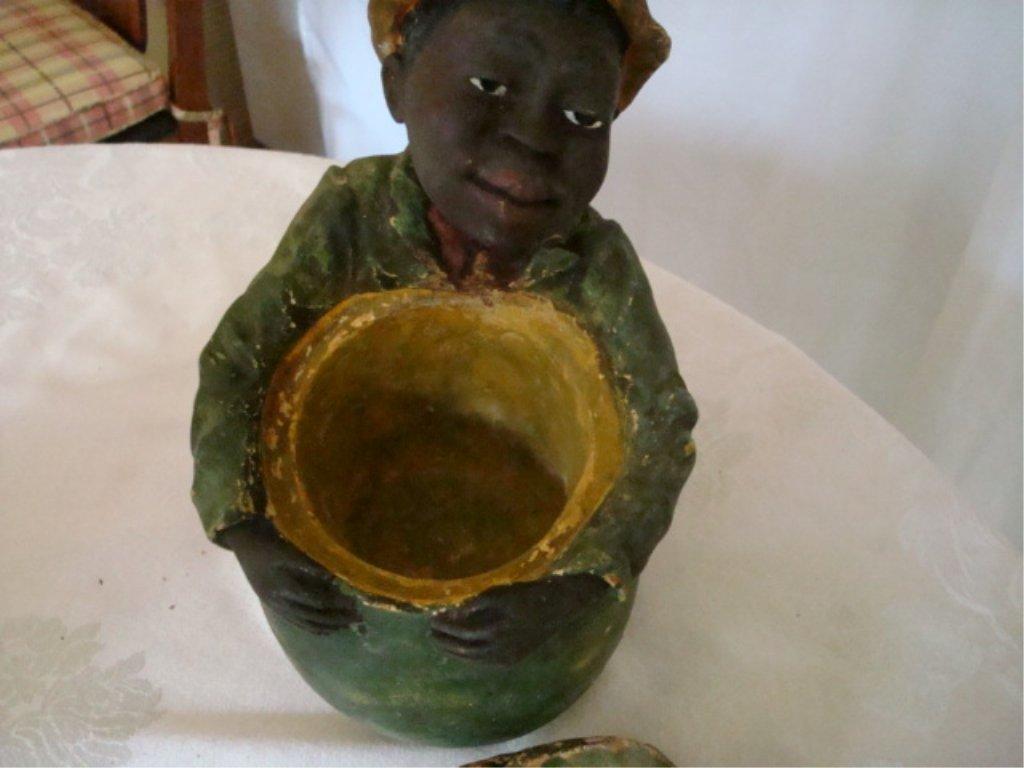 Black Memorabila Humidor Chalkware Boy w Melon - 4