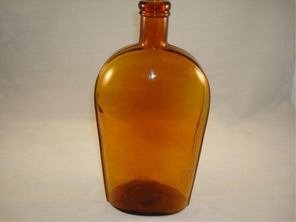 Lyndbourgh Quart Strap Flask Honey Amber