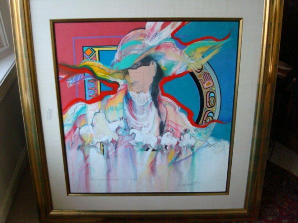 Amy Burnett Large Framed Original Painting